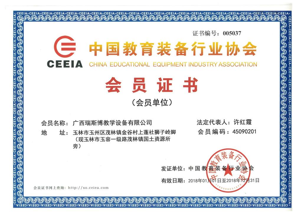 中国会员证书